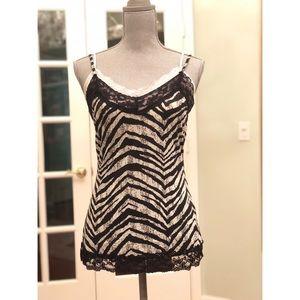 Zebra striped camisole!